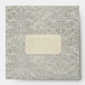 Grey Vintage French Regency Lace Weddings Envelopes