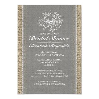Grey Vintage Lace Bridal Shower Invitations Personalized Invitation