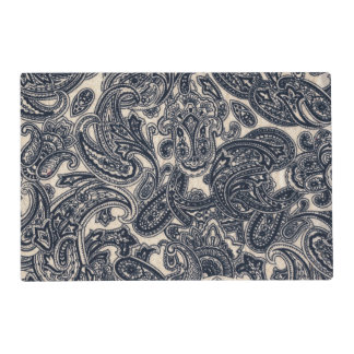 Grey Vintage Paisley Placemat