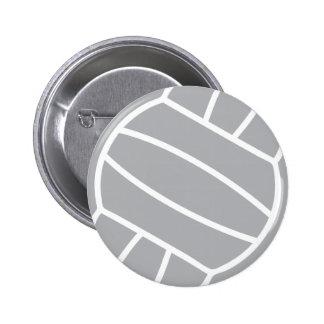 grey volleyball ball logo symbol button