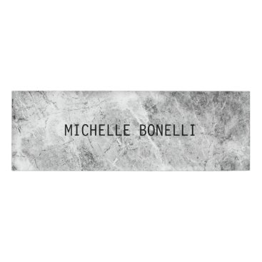 Grey  Wall Design Background Plain Legible Modern Name Tag