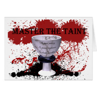 Grey Warden Master the Taint Joining Greeting Card