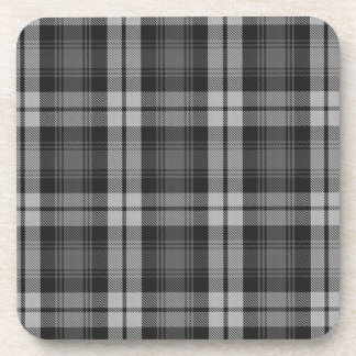 Grey Watch Scottish Tartan Plaid Pattern Beverage Coaster