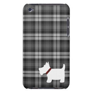 Grey Watch Tartan Pattern with Scottie Dog Case iPod Touch Covers