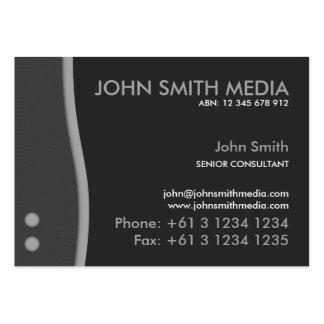 Grey Wave Business Card (Dark)
