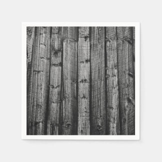 Grey weathered wood boards texture standard cocktail napkin