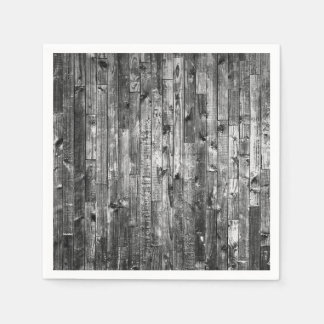 Grey Weathered Wood Wall Texture Napkin