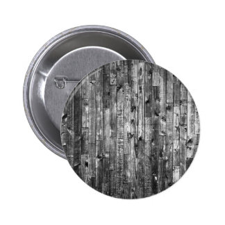 Grey Weathered Wood Wall Texture Pinback Button