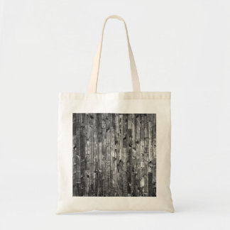 Grey Weathered Wood Wall Texture Tote Bag