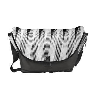 """Grey Weave """"Bossa Nova"""" Pattern 2 Shoulder Bag Courier Bag"""