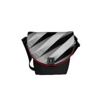 """Grey Weave """"Bossa Nova"""" Pattern Shoulder Bag"""