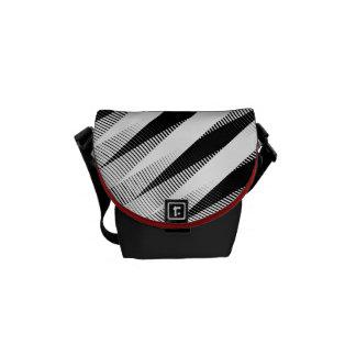"""Grey Weave """"Bossa Nova"""" Pattern Shoulder Bag Courier Bag"""