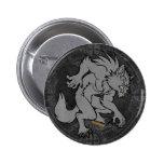 Grey Werewolf 2 Inch Round Button