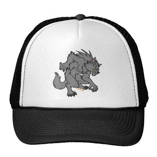 Grey Werewolf Trucker Hats