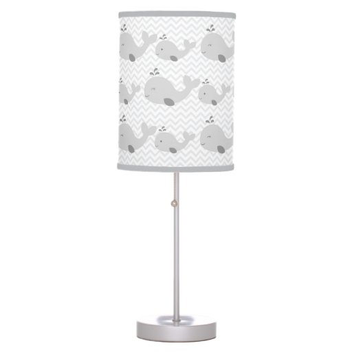 Grey Whale Chevron Nursery Lamp