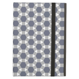 Grey, White and Muted Blue Tessellation Pattern iPad Air Cases