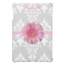 Grey, White and Pink Daisy iPad Mini Case