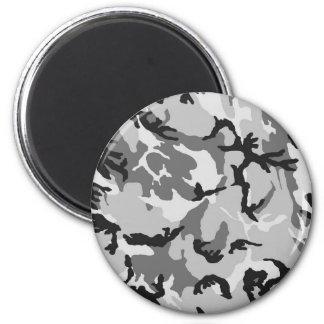 Grey White Black Camouflage Magnet