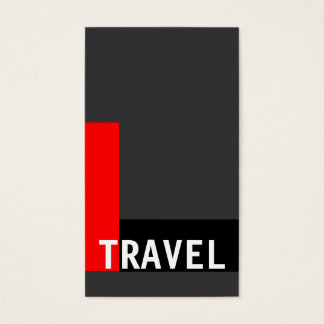Grey White Black Red Travel Agent Business Card