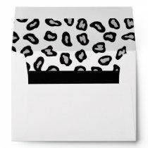 Grey, White & Black Zebra & Cheetah Skin Envelope