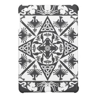 Grey White Celtic Medieval Fantasy Cover For The iPad Mini