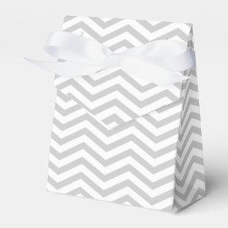 Grey, white chevron zigzag pattern wedding wedding favor box