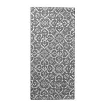 Grey & White Damask Pattern Cloth Napkins