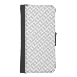Grey & White Houndstooth iPhone Wallet Case iPhone 5 Wallet Cases