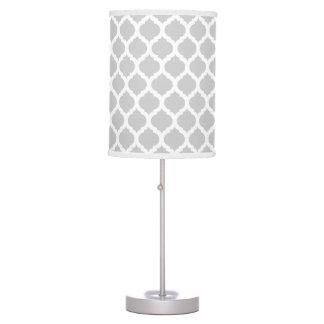 Grey White Moroccan Pattern Desk Lamps