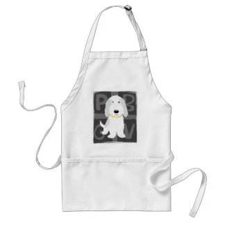 Grey & White PBGV Adult Apron