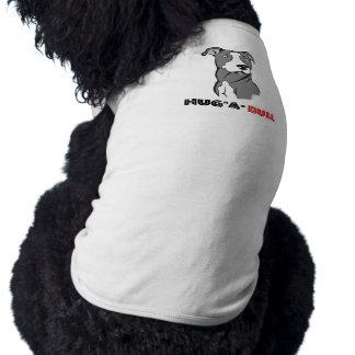 Grey & White Pitbull Sketch Hug-a-Bull Pet T-shirt