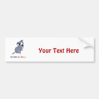 Grey & White Pittie Puppy  Adore-a-Bull Bumper Sticker