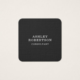 Grey White Professional Stylish Trendy Minimalist Square Business Card