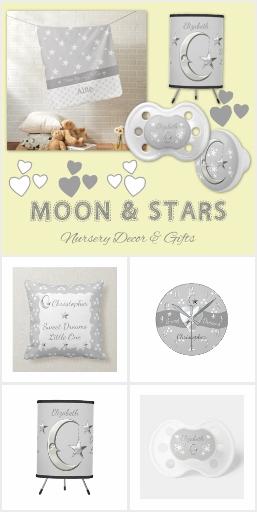 Grey / White Stars Nursery Decor & Gifts