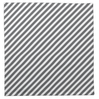 Grey & White Striped Pattern Cloth Napkin