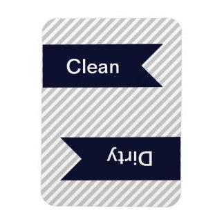 Grey & White Striped Pattern Dishwasher Magnets