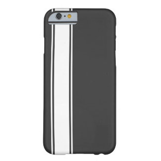Grey & White Team Jersey Stripe iPhone 6 Case