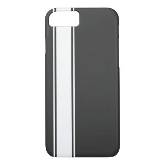 Grey & White Team Jersey Stripe iPhone 7 Case