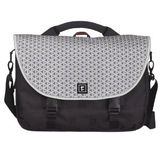 Grey & White Triangle Weave Pattern Computer Bag