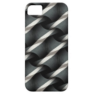Grey + White Weave Funky Pattern iPhone 5 Case