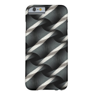 Grey + White Weave Funky Pattern iPhone 6 case