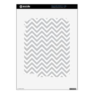 Grey & White Zig Zags Skin For The iPad 2
