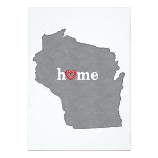 Grey WISCONSIN Home & Open Heart Card