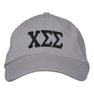 Grey with Black Letters Embroidered Baseball Cap