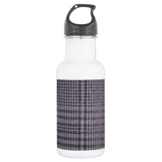 Grey-with-black-textile1011 GREY  TEXTILE PATTERN Stainless Steel Water Bottle