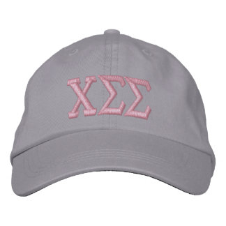 Grey with Pink Letters Embroidered Baseball Hat
