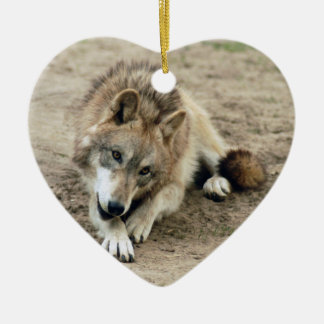 grey-wolf-17 christmas tree ornaments