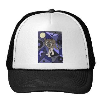 Grey Wolf Abstract Design Trucker Hat