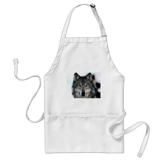 Grey Wolf Adult Apron