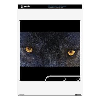 Grey Wolf Animal Eyes 2 Playstation 3 Skin Decals For PS3 Slim
